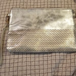 Large, Silver/Gold clutch